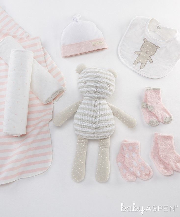 """Start baby girl off in grand style with """"beary"""" special 10-piece baby girl gift set from our Classic collection. 