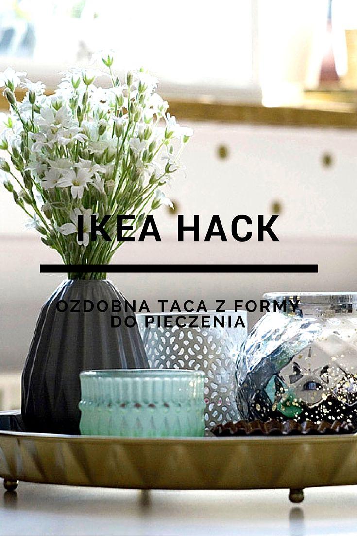 #ikea #hack #diy #tray #taca #zróbtosam #gold #złoto #geometric #vase #flowers