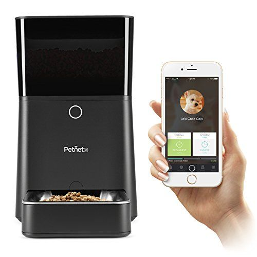 Petnet SmartFeeder - Automatic Pet Feeding with your iPhone Petnet http://www.amazon.com/dp/B010QYTN2K/ref=cm_sw_r_pi_dp_FuCDwb0CAQ5Y6