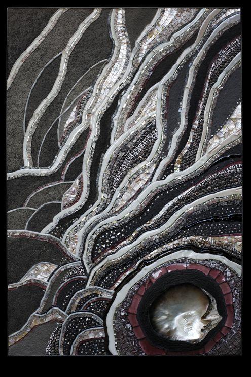 Atelier Martine Blanchard artiste mosaiste Galerie Acier découpé trvail métal…
