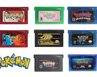 Pokemon Rom Hack GBA games US version [Reprodcution Cartridges]