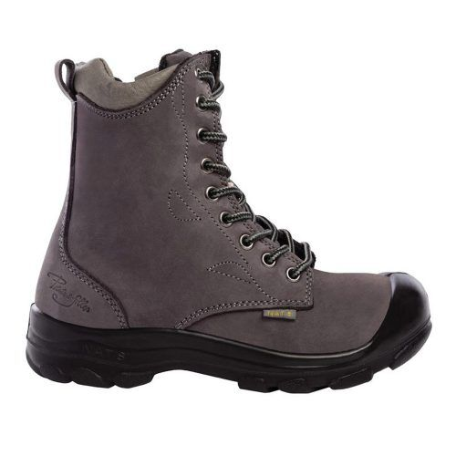 Steel toe work boots for women. Charcoal (grey) colour. CSA approved.