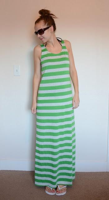 No Pattern Needed DIY Maxie Dress:)  Merricks Art: Swimsuit Cover-up Maxi Dress (Tutorial)