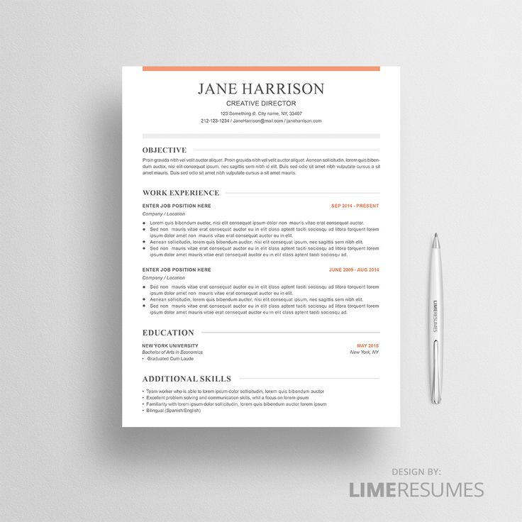 CV template for Microsoft Word and Apple iWork Pages. Update your CV in less than 10 minutes by using a professional CV template.