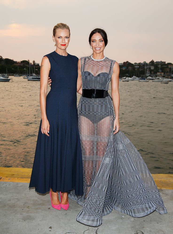 Erica Packer, in Dior F13 Couture, feted the Australia Vogue cover with Sarah Murdoch, in Celine S13, while in Sydney
