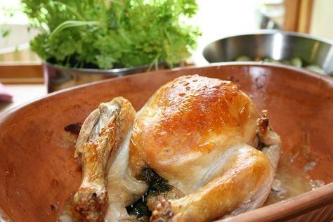 Stegt kylling med persille, stegt i stegeso – til 4 personer