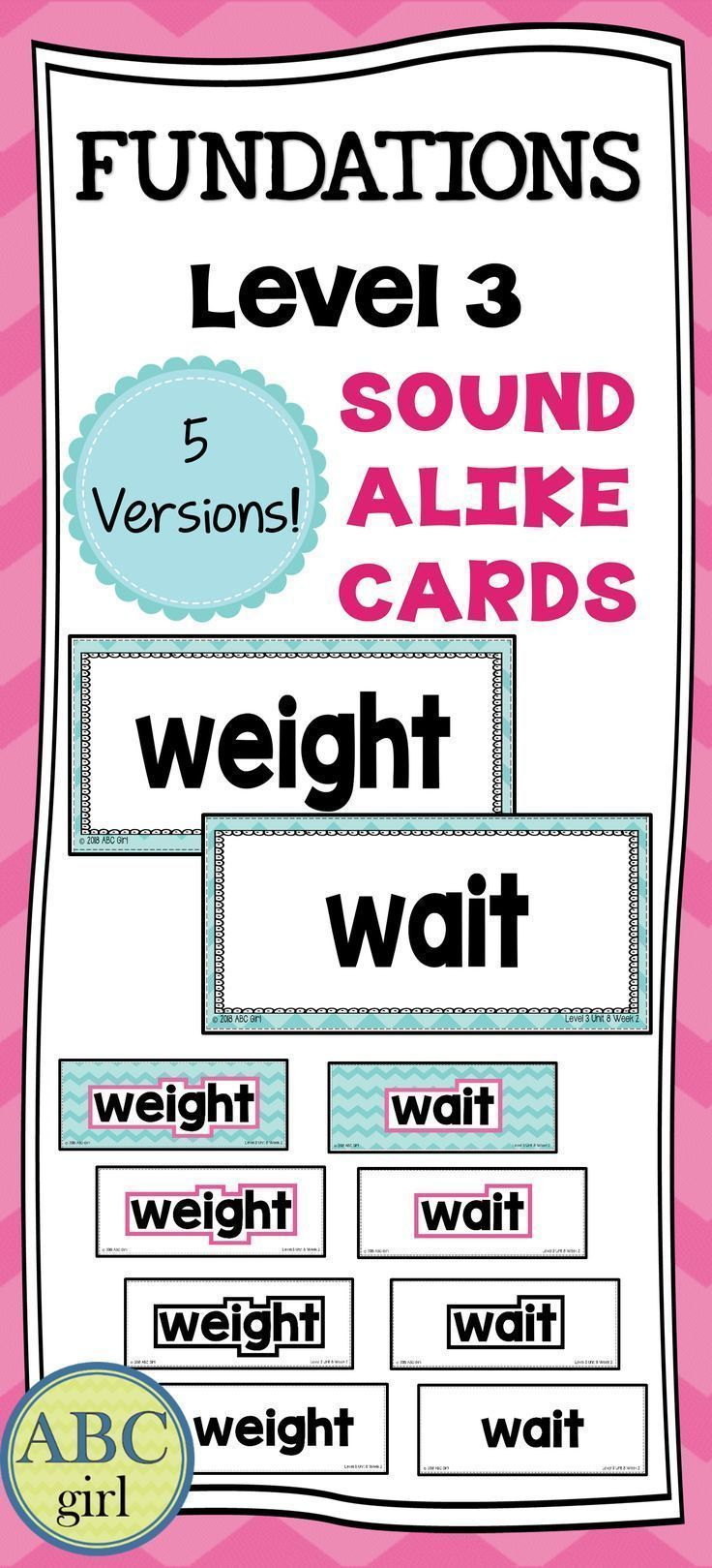 FUNDATIONS Level Sound Alike Homophone cards can be used on