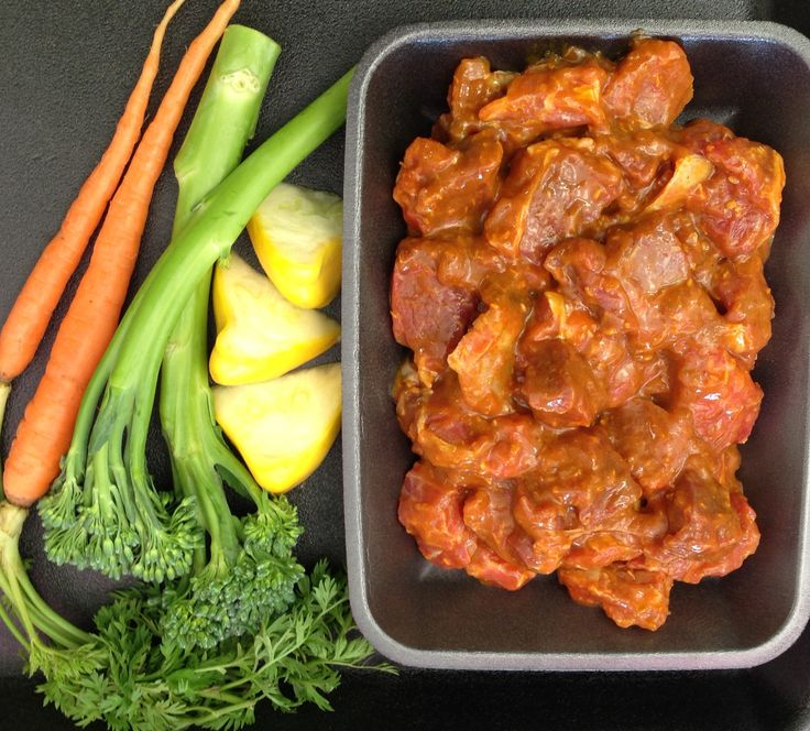 SWEET LAMB CURRY - Tender, lean and juicy.  Simply cook in slow cooker or oven.  Add your vegies and serve on rice or mash potato for an easy, delicious meal. #adamsfamilymeats #sweetlambcurry #curry #lamb #lambcurry #readypreparedmeal