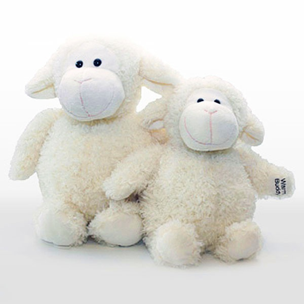 Wooly the Sheep is a new addition to the Warm Buddy family... and he is wooly, wooly cute. So popular we gave him a little brother. Wooly is the perfect bedtime companion.  All of our Warm buddies come with a removable inner heat pack that can be warmed in the microwave or cooled in the freezer, making them perfect to help ease children to sleep.