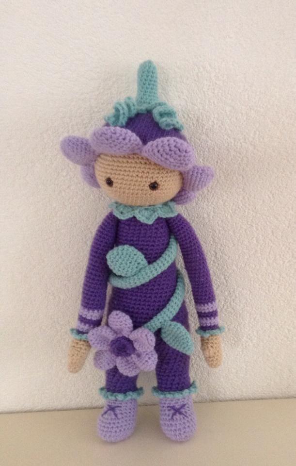 Flower girl mod made by Irene J.-K. / based on a lalylala crochet pattern
