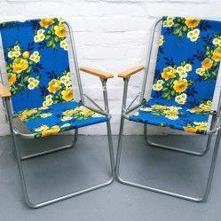Pair of vintage camping chairs vintageactually.co.uk