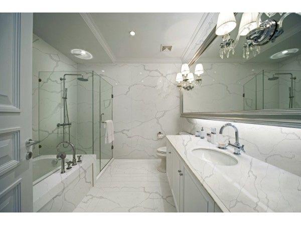 M01 #Calacatta White Quartz Vanity Tops