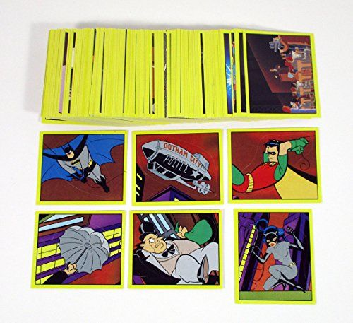 Animated Batman Series Panini Album Sticker Set 216 Stickers 1993  Panini Complete Set of 216 Album Stickers  This is Animated Series from 1993  No album included