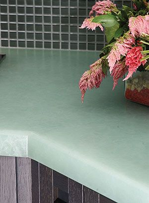 Island counter top - recycled glass!