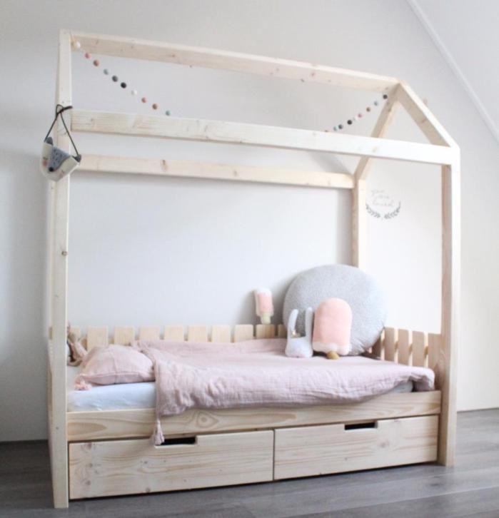 Bedhuisje | bedhuis peuterbedje peuterbed eenpersoonsbed bed