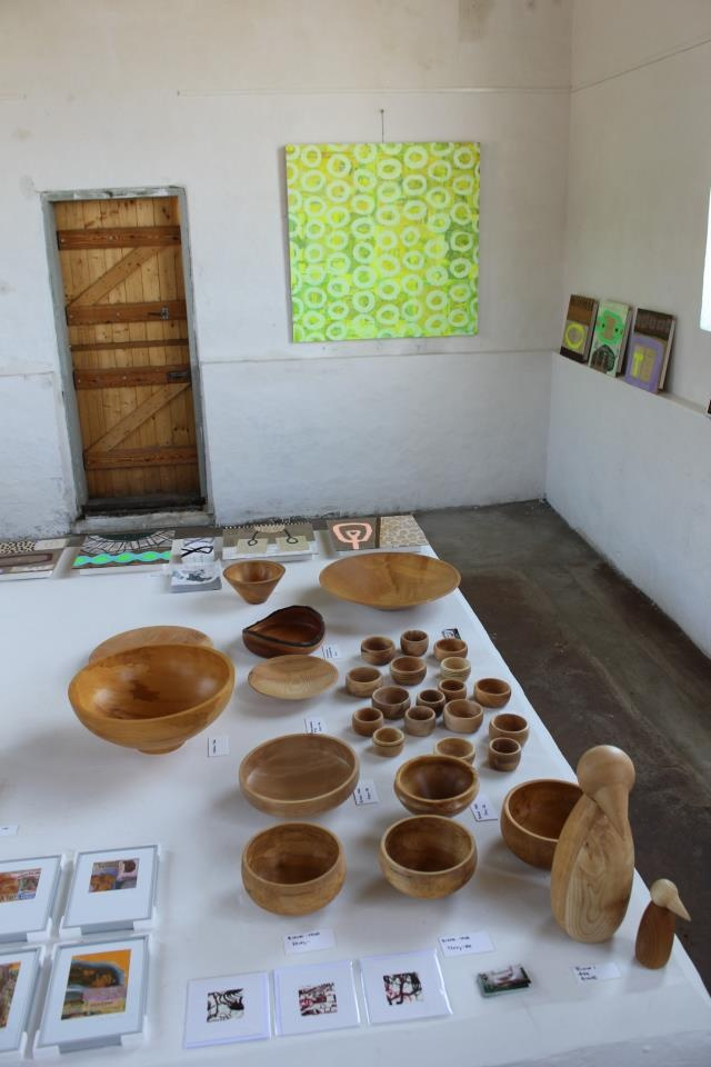 Exhibition at Vang Habour Bornholm 2012 together with my fathers beautiful Wood turning bowls