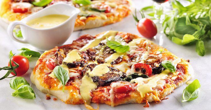 Lyxpizza med fläskfilé och bearnaise