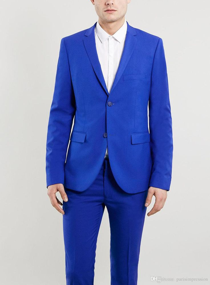 New Arrival groo wear suit blue tuxedos for men wedding suits for men 2 pieces men suits slim fit two-button groomsmen suits