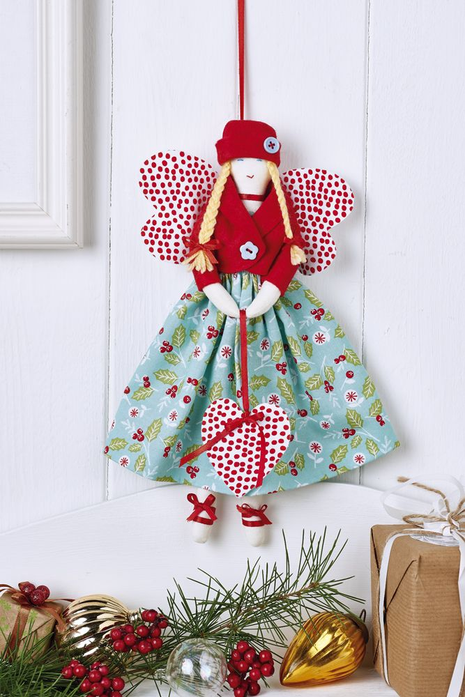 Stitch up a darling Christmas angel for your tree this season