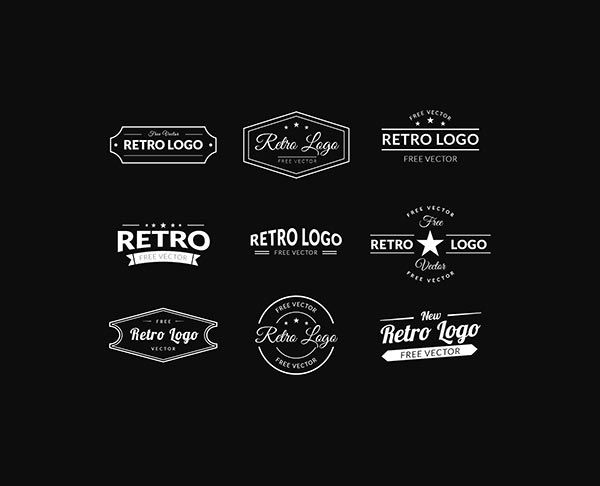 Retro Logos Vector Free