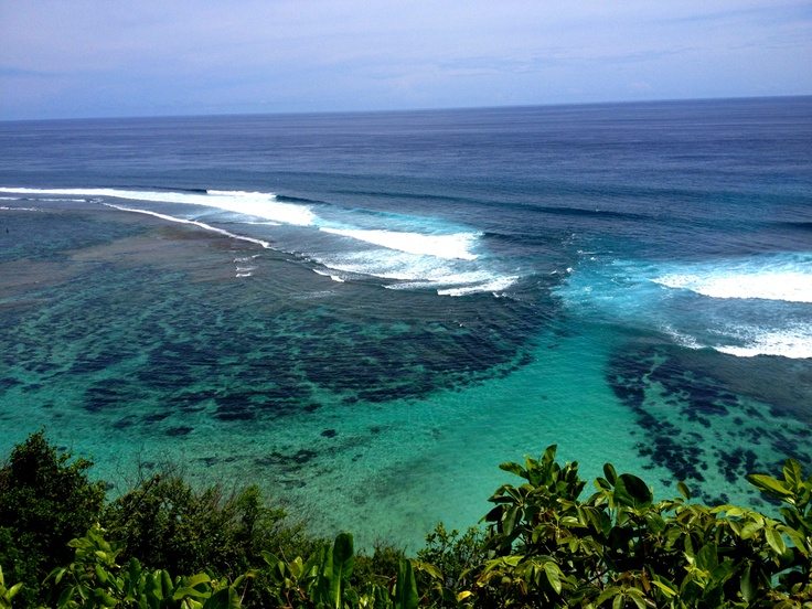 How's this view for eliminating any nostalgia caused by family/boyfriend being REALLY far away on Christmas? - at Green Bowl Beach, Bali