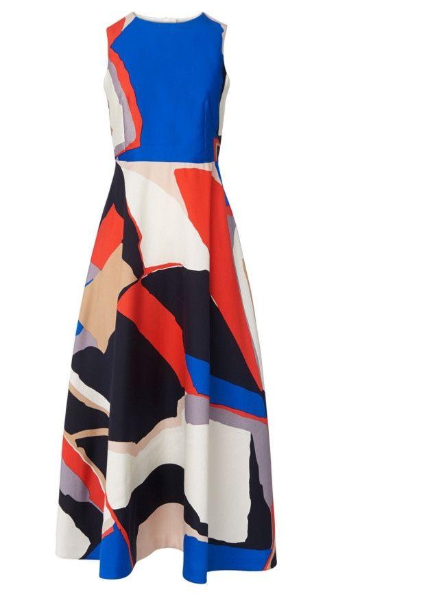 Amina printed midi tea dress £350, LK Bennett