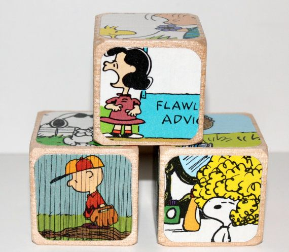 Charlie Brown  Peanuts  Characters  Childrens by Booksonblocks, $14.00