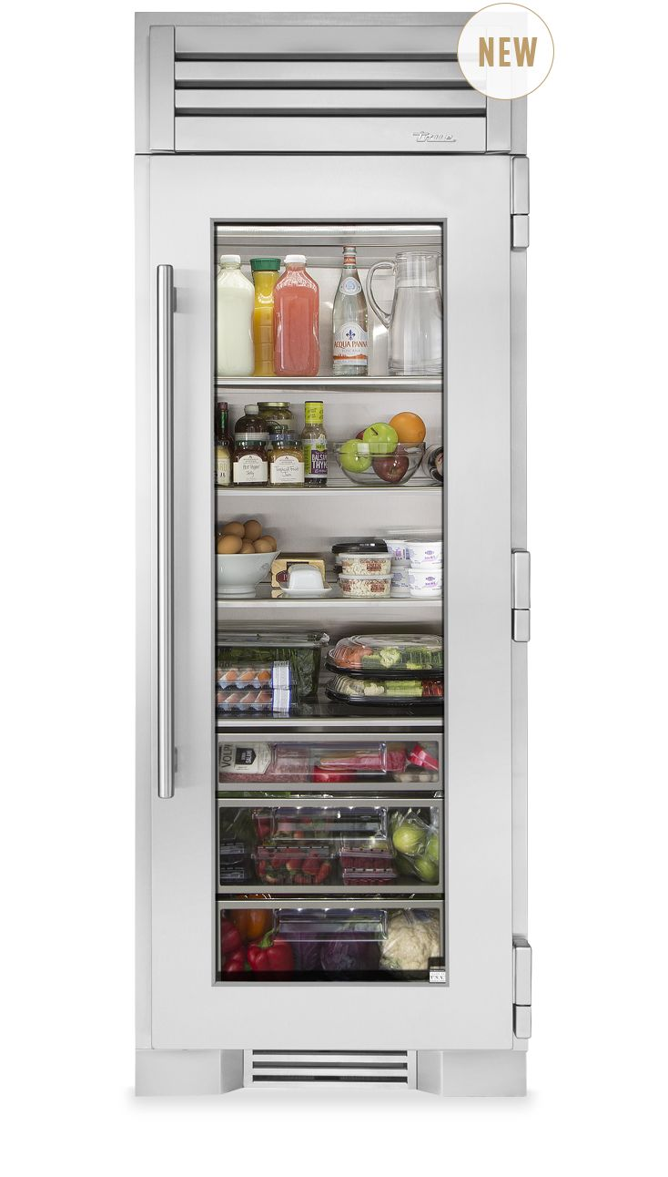 Glass door fridge kitchen - True Residential 30 Glass Door Refrigerator Column