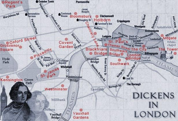 Pin by Tamara Gligorijevic on Dickens' England   London map