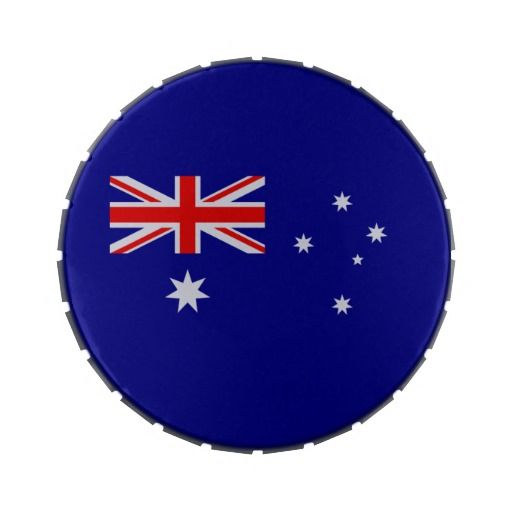 Australian flag candy tin