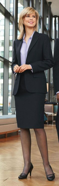 Your blouse is a safe way to add color to a business formal suit Follow us for more inspiration and ideas on the latest skirt fashion!  https://www.pinterest.com/ritaandphill/conservative-office-outfits/