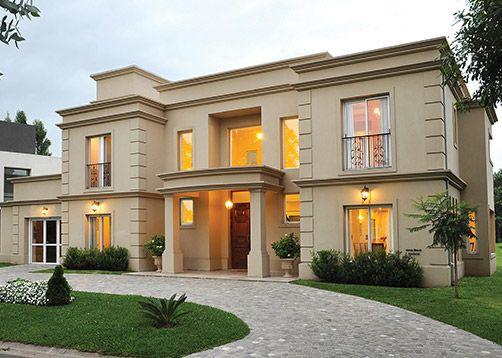 Mejores 27 im genes de casas clasicas modernas en for Fachadas de casas estilo clasico