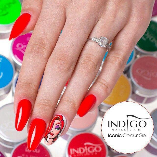 Color Gel #jessica #rubbit #cartoon #colorgel #nailart #torino #nailartist #indigonailspiemonte #indigonails #colorful