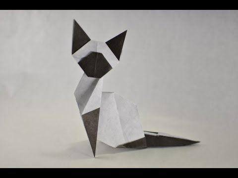 #57 Origami (easy) Siamese Cat by Makoto Yamaguchi - Yakomoga Origami tutorial - YouTube