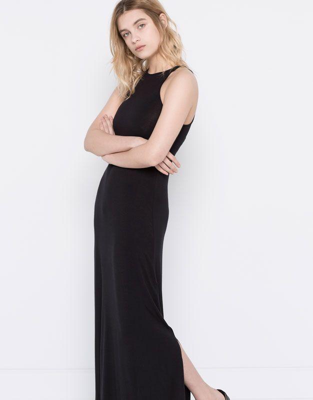 LONG PLAIN HALTER-NECK DRESS - DRESSES - WOMAN - PULL&BEAR United Kingdom