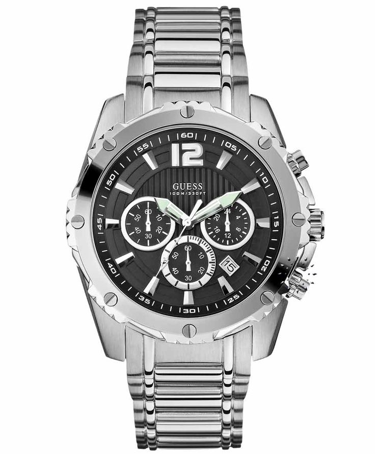 GUESS Chronograph Stainless Steel Bracelet Η τιμή μας: 228€ http://www.oroloi.gr/product_info.php?products_id=36266