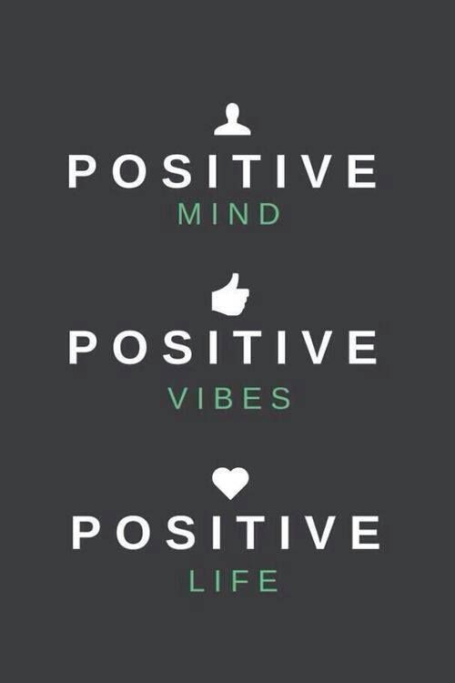 Stay positive! Positive mind, positive vibes, positive life. #quotes