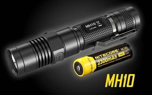 Nitecore MH10 1000 Lumens Compact USB Rechargeable LED Flashlight w/ Battery #Nitecore