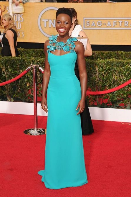 LOS ANGELES, CA- JANUARY 18: Actress Lupita Nyong'o arrives at the 20th Annual Screen Actors Guild Awards at The Shrine Auditorium on January 18, 2014 in Los Angeles, California.(Photo by Jeffrey Mayer/WireImage) Vertical|Actress|Lupita Nyong'o|Radio|USA|California|City Of Los Angeles|Movie|Award|Television Show|Arrival|Portrait|Film Industry|Fashion|Arts Culture and Entertainment|Headshot|Shrine Auditorium|Celebrities|Screen Actors Guild|Screen Actors Guild…