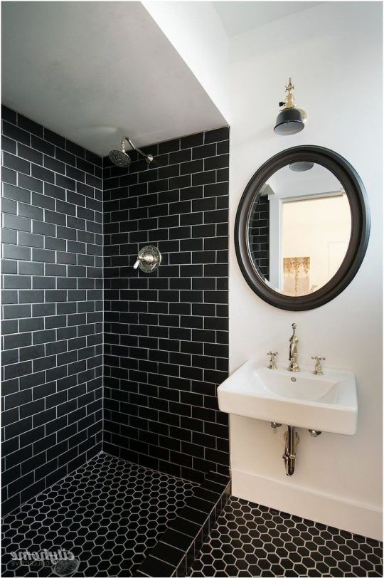 Permalink to Lovely Black Tiled Bathrooms