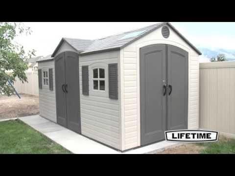 Lifetime 15x8 Plastic Storage Shed Kit w/ Double Doors (60079)