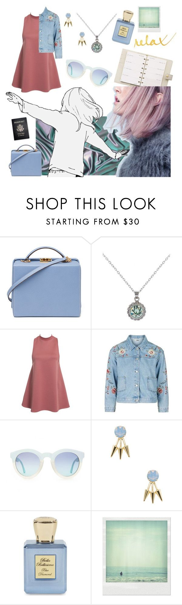 """Relaxed"" by georgia-grace-sheldon ❤ liked on Polyvore featuring Louis Vuitton, Mark Cross, Passport, Ted Baker, NLY Trend, Topshop, Gemma Crus, Bella Bellissima and Polaroid"