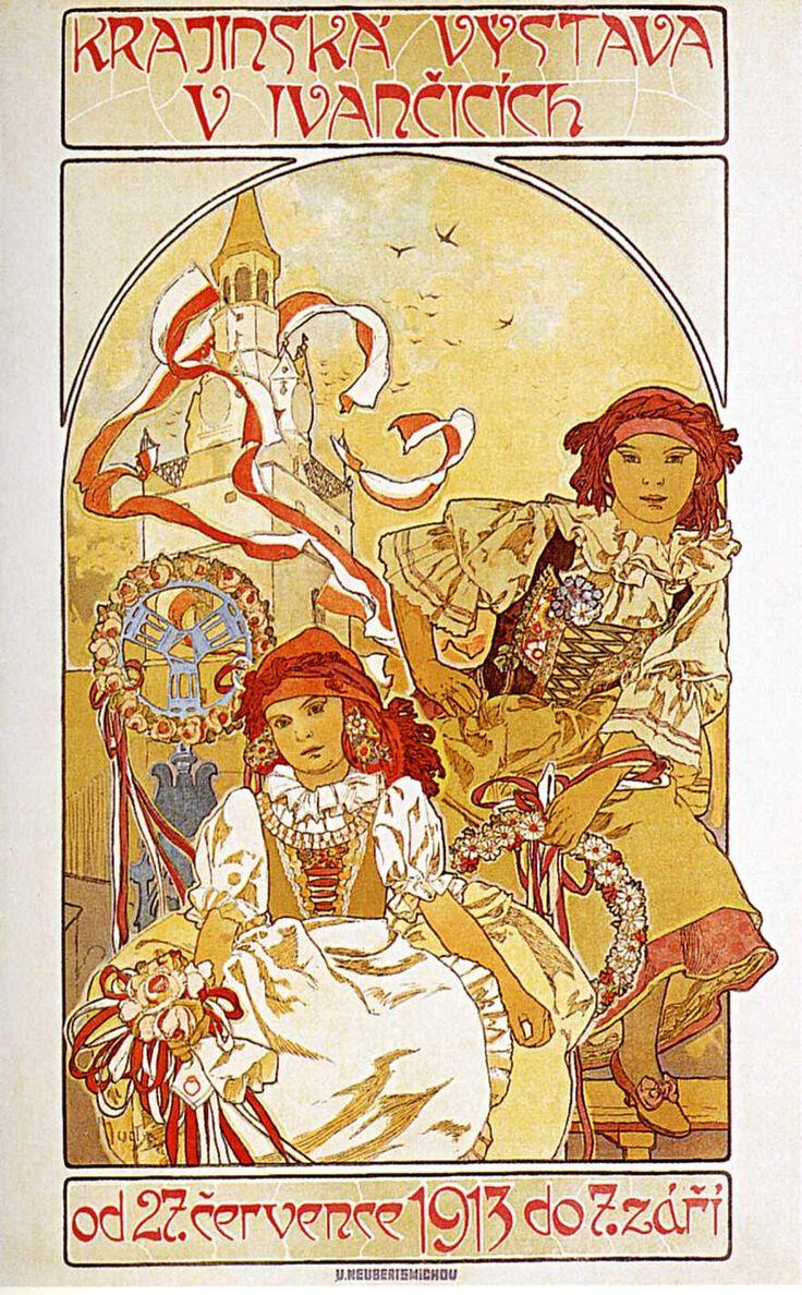 Афиша региональной выставки в Иванчице-1912