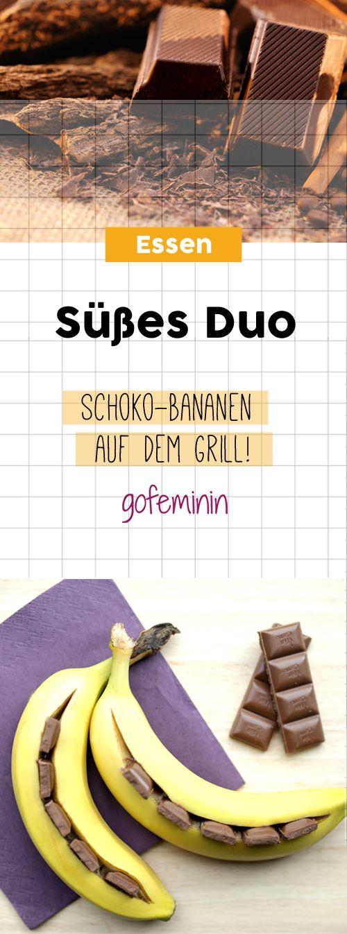 Süßes Duo: So gelingen Schoko-Bananen auf dem Grill!