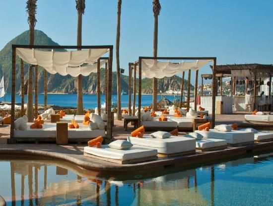 Nikki Beach Cabo.  Beach/pool area