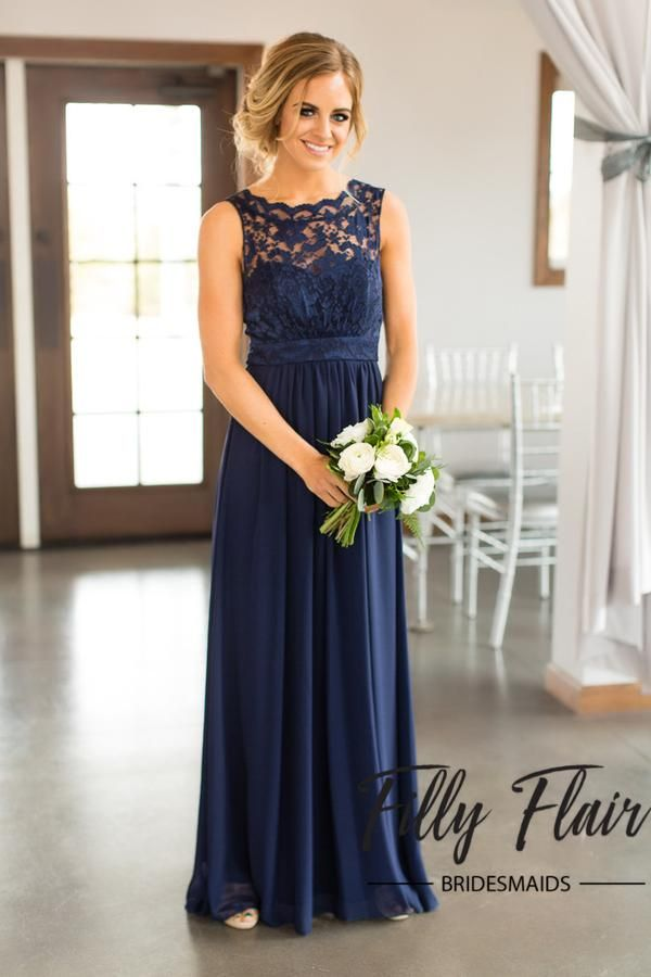 Beautiful lace details set this dress apart from any other affordable bridesmaid dresses! This beautiful full length dress features a sheer lace overlay covering it's front and back and long layers of
