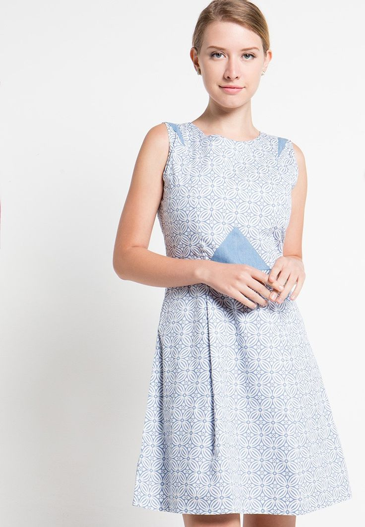 Sleeveless Cotton Print Dress_1
