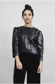 Sequin dreams come true in this cropped jacket
