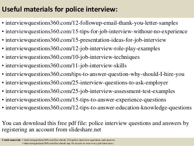 interview questions and sample answers