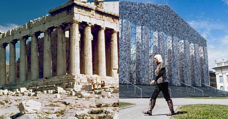 Here's What The Parthenon Would Look Like If It Were Made Out Of 100,000 Banned Books | GOOD Education